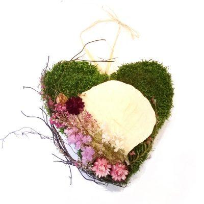 Smútočný veniec v tvare srdca - Flora Shop ateliér