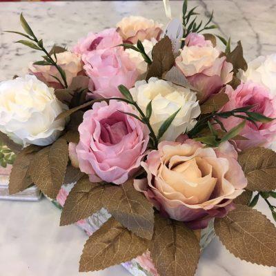 DEKORÁCIA Z UMELÝCH KVETOV – RUŽE - Flora Shop ateliér
