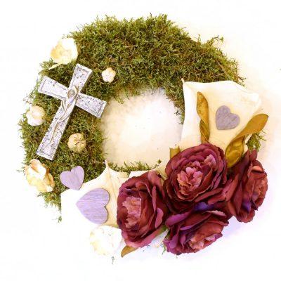 Smútočný veniec s krížom - Flora Shop ateliér