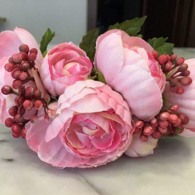 Čelenka do vlasov – ružová