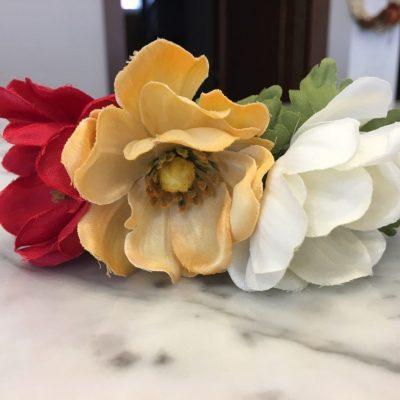 Čelenka do vlasov z umelých kvetov