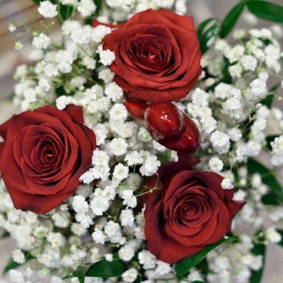 Valentínska kytica pre zaľúbených