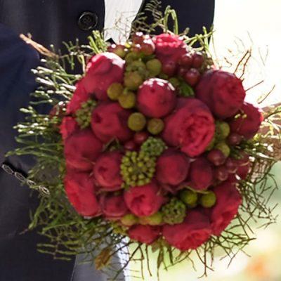 Svadobná kytica z austin ruží
