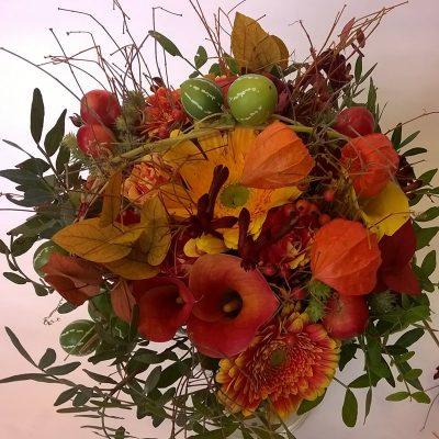 Jesenná svadobná kytica